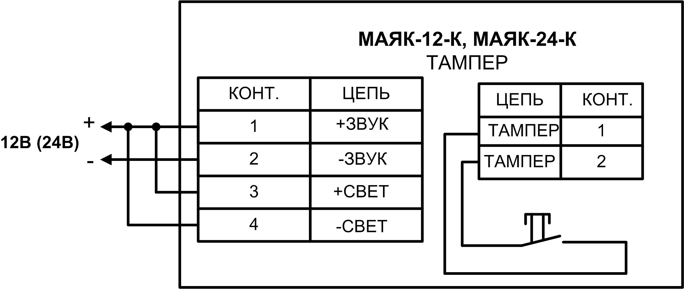 Маяк 12с схема подключения
