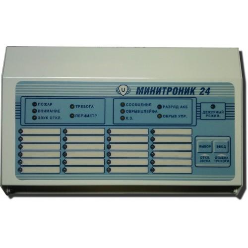 Минитроник Прибор приемно контрольный охранно пожарный цена  Минитроник 24 на 24 ШС